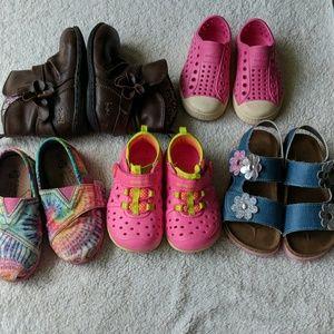 Bundle of 5 Pairs of Toddler Girls Shoes